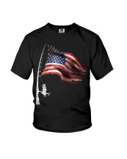 Fishing American Flag Fisherman  Youth T-Shirt thumbnail