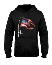 Fishing American Flag Fisherman  Hooded Sweatshirt thumbnail