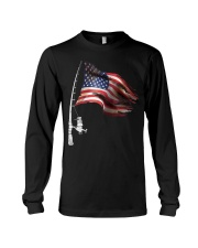 Fishing American Flag Fisherman  Long Sleeve Tee thumbnail