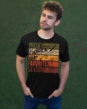Distressed Vintage Musky Fishing Is My Favorite Classic T-Shirt apparel-classic-tshirt-lifestyle-front-43