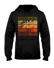 Distressed Vintage Musky Fishing Is My Favorite Hooded Sweatshirt thumbnail