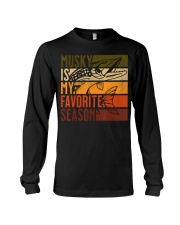 Distressed Vintage Musky Fishing Is My Favorite Long Sleeve Tee thumbnail