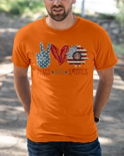 Peace Love America Classic T-Shirt apparel-classic-tshirt-lifestyle-front-50