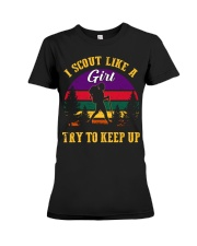 Try to keep up Girl Scout Premium Fit Ladies Tee thumbnail