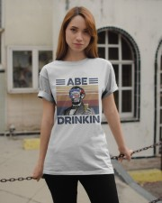 US Beer Abe Drinkin Classic T-Shirt apparel-classic-tshirt-lifestyle-19