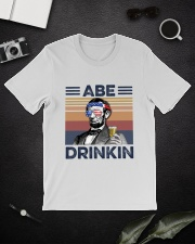 US Beer Abe Drinkin Classic T-Shirt lifestyle-mens-crewneck-front-16