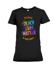 Black Lives Matter -  Silence Is Violence Premium Fit Ladies Tee thumbnail