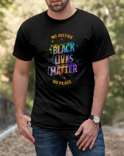 No Justice BLM No Peace Classic T-Shirt apparel-classic-tshirt-lifestyle-front-53