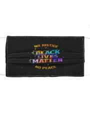 No Justice BLM No Peace Cloth face mask thumbnail