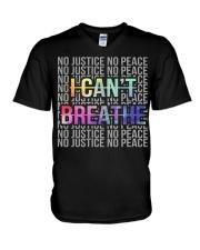 I Can't Breathe - No Justice No Peace V-Neck T-Shirt thumbnail