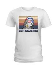US Beer Ben Drankin Ladies T-Shirt thumbnail