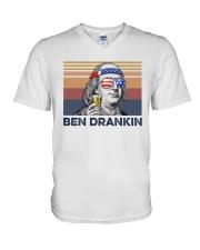 US Beer Ben Drankin V-Neck T-Shirt thumbnail