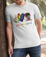 Peace Love Proud Classic T-Shirt apparel-classic-tshirt-lifestyle-front-51