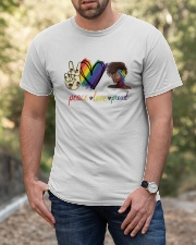 Peace Love Proud Classic T-Shirt apparel-classic-tshirt-lifestyle-front-53