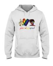 Peace Love Proud Hooded Sweatshirt thumbnail