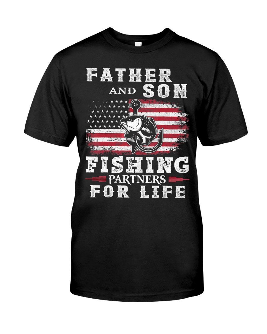 Father and Son Fishing Partners for Life American Classic T-Shirt