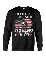 Father and Son Fishing Partners for Life American Crewneck Sweatshirt thumbnail