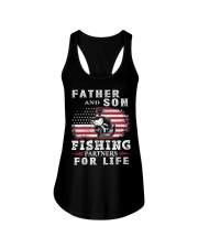 Father and Son Fishing Partners for Life American Ladies Flowy Tank thumbnail