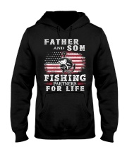 Father and Son Fishing Partners for Life American Hooded Sweatshirt thumbnail
