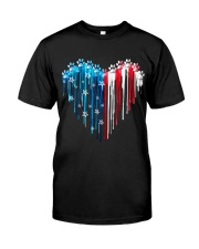 Dog 4th July Classic T-Shirt front