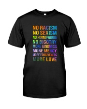 No Racism Classic T-Shirt front