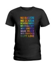 No Racism Ladies T-Shirt thumbnail