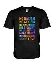 No Racism V-Neck T-Shirt thumbnail