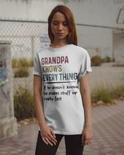 Grandpa Knows Every Thing Classic T-Shirt apparel-classic-tshirt-lifestyle-18