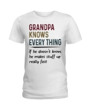 Grandpa Knows Every Thing Ladies T-Shirt tile