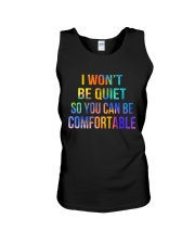 I Won't Be Quiet So You Can Be Comfortable Unisex Tank thumbnail