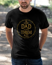 One Dad To Rule Them All Classic T-Shirt apparel-classic-tshirt-lifestyle-front-50