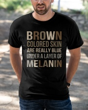 Brown Colored Skin Are Really Blue Classic T-Shirt apparel-classic-tshirt-lifestyle-front-50