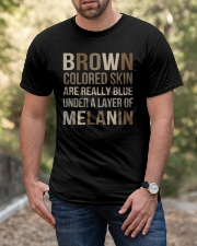 Brown Colored Skin Are Really Blue Classic T-Shirt apparel-classic-tshirt-lifestyle-front-53
