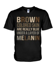 Brown Colored Skin Are Really Blue V-Neck T-Shirt thumbnail