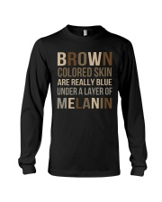 Brown Colored Skin Are Really Blue Long Sleeve Tee thumbnail