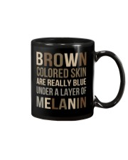 Brown Colored Skin Are Really Blue Mug tile