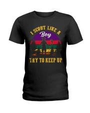 Try to keep up Boy Scout Ladies T-Shirt thumbnail