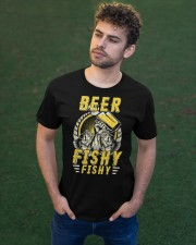 Beer Fishy Fishy Funny Love Fishing and Drinking Classic T-Shirt apparel-classic-tshirt-lifestyle-front-43