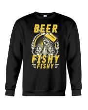 Beer Fishy Fishy Funny Love Fishing and Drinking Crewneck Sweatshirt thumbnail
