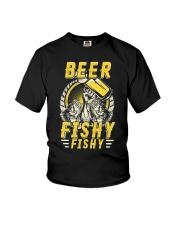 Beer Fishy Fishy Funny Love Fishing and Drinking Youth T-Shirt thumbnail