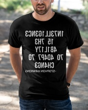 1N73LL1G3NC3 15 7H3 4B1L17Y 70 4D4P7 70 CH4NG3 Classic T-Shirt apparel-classic-tshirt-lifestyle-front-50
