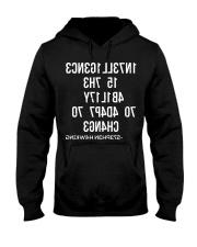 1N73LL1G3NC3 15 7H3 4B1L17Y 70 4D4P7 70 CH4NG3 Hooded Sweatshirt thumbnail