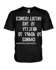 1N73LL1G3NC3 15 7H3 4B1L17Y 70 4D4P7 70 CH4NG3 V-Neck T-Shirt thumbnail