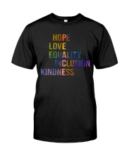 Hope Love Equality Inclusion Kindness Premium Fit Mens Tee thumbnail