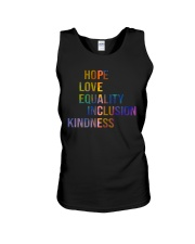 Hope Love Equality Inclusion Kindness Unisex Tank thumbnail