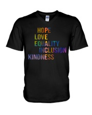 Hope Love Equality Inclusion Kindness V-Neck T-Shirt thumbnail