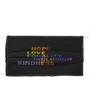 Hope Love Equality Inclusion Kindness Cloth face mask thumbnail