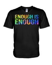 Enough Is Enough V-Neck T-Shirt thumbnail