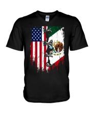Mexico - United State V-Neck T-Shirt thumbnail