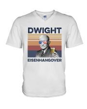 US Beer Dwight Eisenhangover V-Neck T-Shirt thumbnail